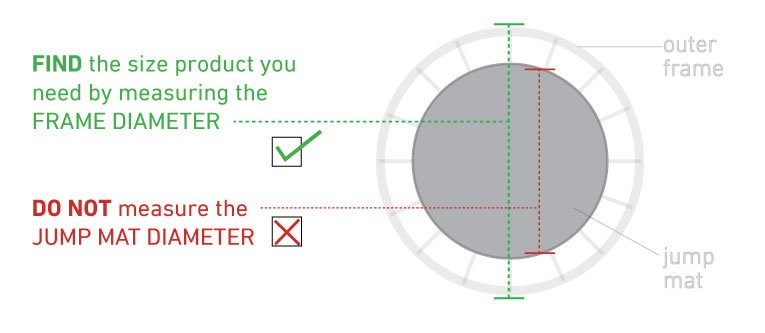 how to measure round trampoline